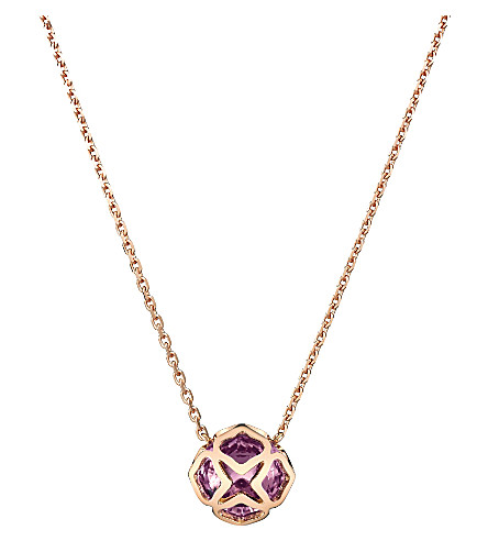 CHOPARD IMPERIALE 18ct rose-gold and amythest necklace