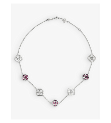 CHOPARD IMPERIALE 18ct white-gold and amethyst necklace