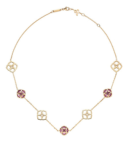 CHOPARD IMPERIALE 18ct rose-gold and amethyst necklace
