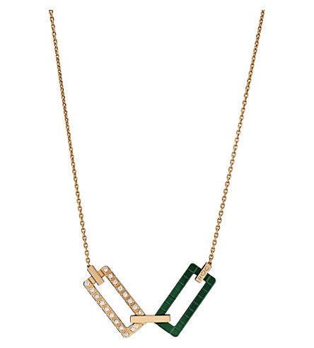 CHOPARD Rihanna Loves Chopard 18ct rose-gold, diamond and ceramic necklace