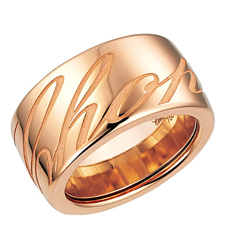 CHOPARD Chopardissimo 18ct rose-gold ring