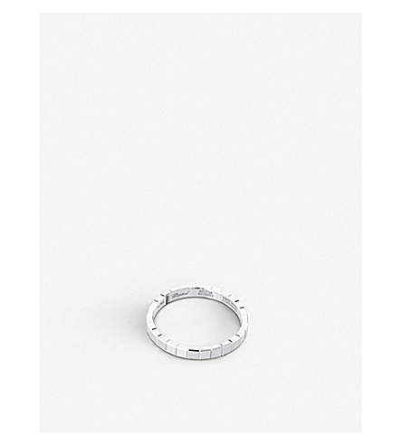 CHOPARD Ice Cube 18ct white-gold ring