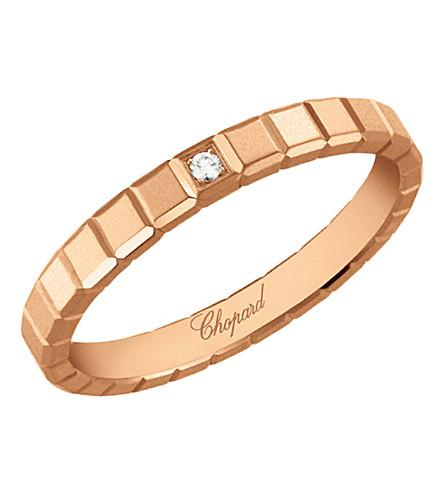 CHOPARD Ice Cube 18ct rose-gold and diamond ring