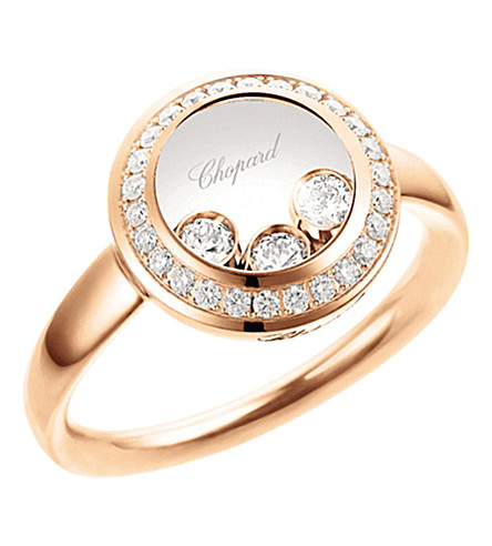 CHOPARD Happy Curves 18ct rose-gold and diamond ring
