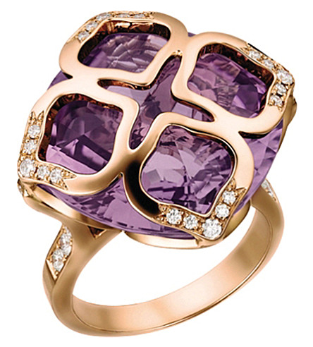 CHOPARD Imperiale 18ct rose-gold amethyst and diamond ring