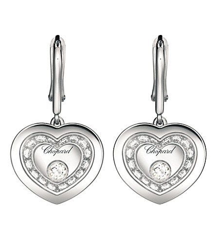CHOPARD Very heart-shaped 18ct white-gold and diamond earrings