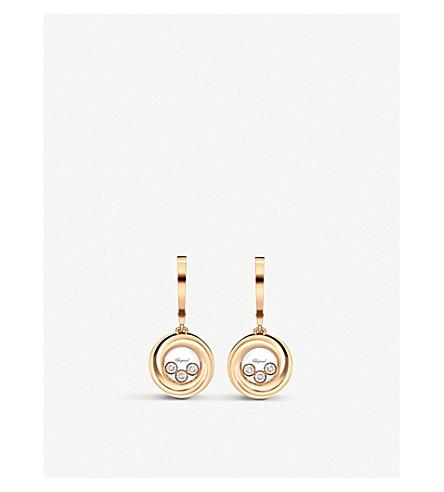 CHOPARD 快乐情感18ct 玫瑰-金和钻石耳环