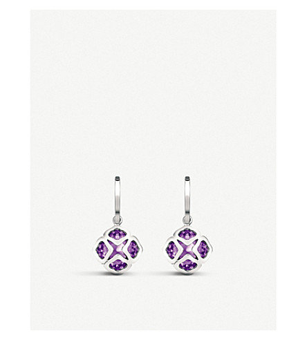 CHOPARD IMPERIALE 18ct white-gold and amethyst earrings
