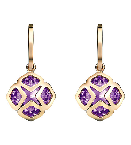 CHOPARD IMPERIALE 18ct rose-gold and amethyst earrings