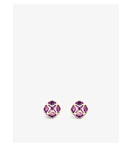CHOPARD 普利亚18ct 玫瑰金色和紫水晶耳环