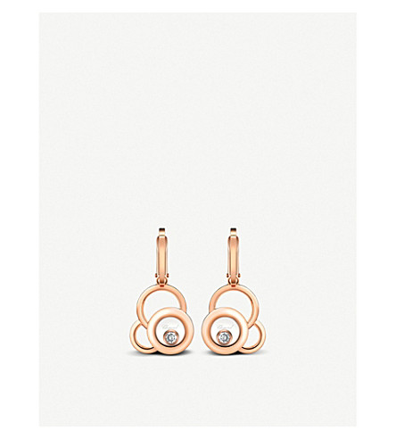 CHOPARD Happy Dreams 18ct rose-gold and diamond earrings