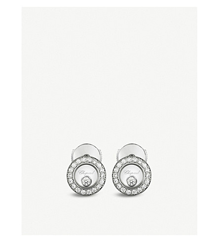 CHOPARD Happy Diamonds Icons 18ct white-gold and diamond earrings