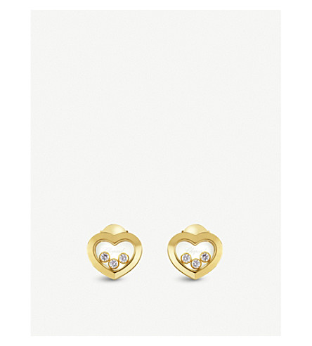 CHOPARD Happy Diamonds Icons 18ct yellow-gold and diamond earrings