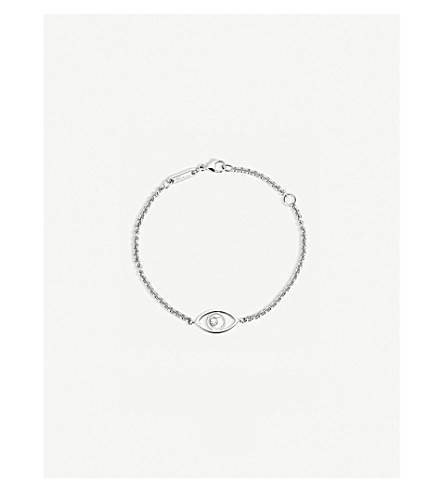 CHOPARD Happy Diamonds Icons 18ct white-gold and diamond bracelet