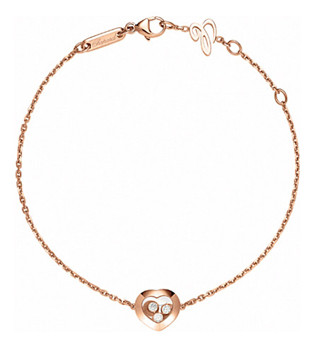 CHOPARD Happy Curves 18ct rose-gold and diamond bracelet