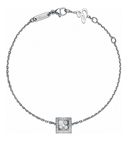 CHOPARD Happy Curves 18ct white-gold and diamond bracelet
