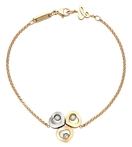 CHOPARD Happy Diamonds Icons 18ct rose-gold, white-gold, yellow-gold and diamond bracelet