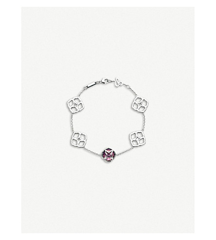 CHOPARD 普利亚18ct 白金和紫水晶手链