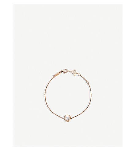 CHOPARD Happy Diamonds Icons 18ct rose-gold and diamond bracelet