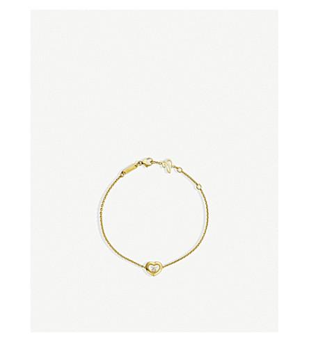 CHOPARD Happy Diamonds Icons 18ct yellow-gold and diamond bracelet