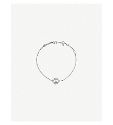 CHOPARD Happy Diamonds Icons 18ct white-gold and diamond bracelet