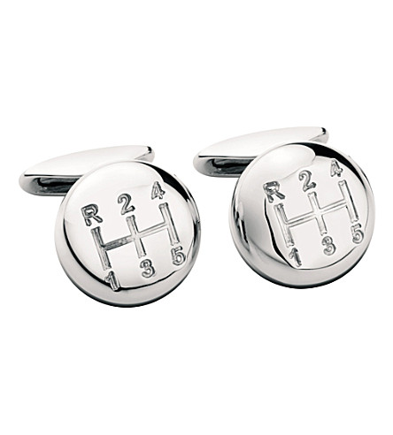 CHOPARD Shift Knob palladium-finish cufflinks