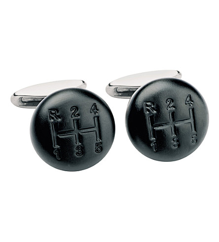 CHOPARD Shift Knob matte black lacquer cufflinks