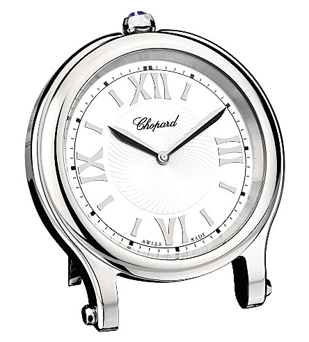 CHOPARD Happy Sport palladium-plated stainless steel table clock