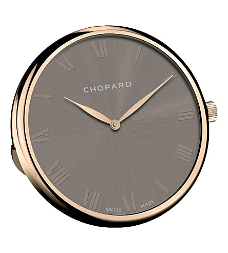 CHOPARD Classic stainless steel table clock