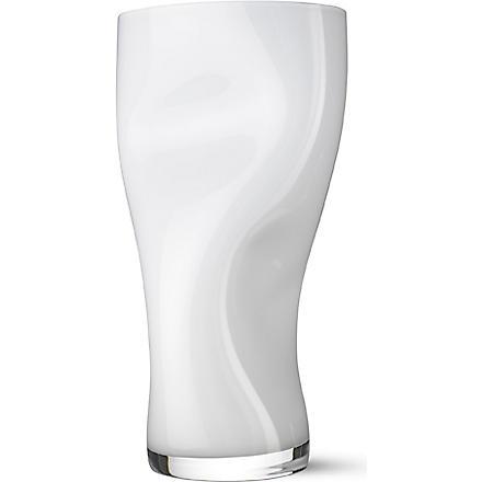 ORREFORS Squeeze vase large (White