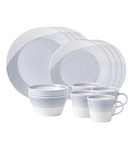 WEDGWOOD 1815 blue 16-piece set