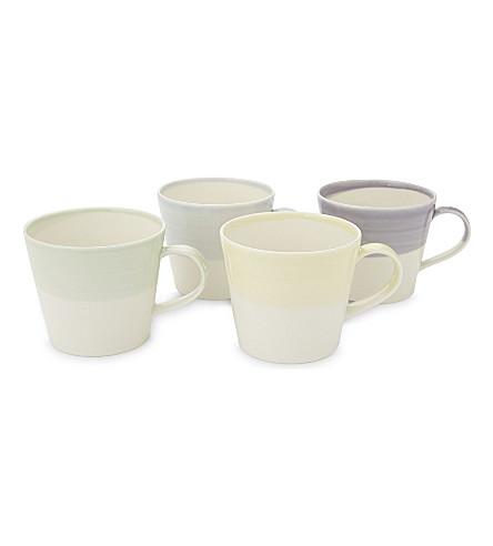 WEDGWOOD 1815 porcelain mugs set of four
