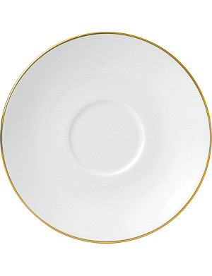 JASPER CONRAN @ WEDGWOOD Jasper Conran Gold Tipped tea saucer