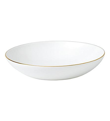 JASPER CONRAN @ WEDGWOOD Jasper Conran Gold Tipped pasta bowl 25cm
