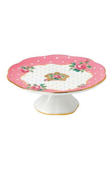 ROYAL ALBERT Cheeky Pink small cake stand
