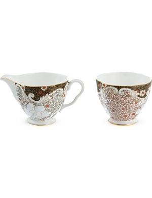 WEDGWOOD Daisy sugar bowl & cream jug