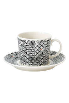 ROYAL DOULTON Foulard Star teacup & saucer set 250ml