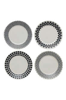 ROYAL DOULTON Charlene Mullen mixed accents tea plates
