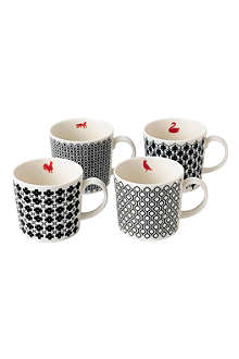 ROYAL DOULTON Charlene Mullen mixed accents mugs
