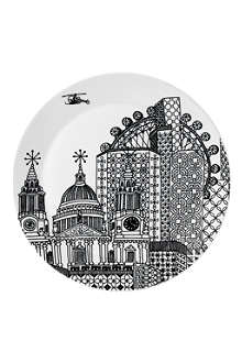 ROYAL DOULTON Charlene Mullen london city scape platter 32cm