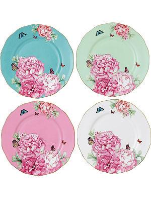 ROYAL ALBERT Miranda Kerr Friendship set of four plates 20cm