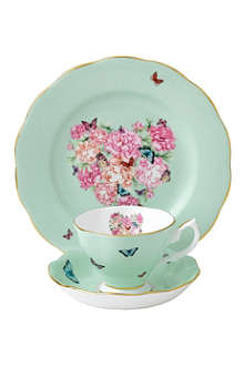 ROYAL ALBERT Miranda Kerr Blessings three-piece teacup, saucer and plate set