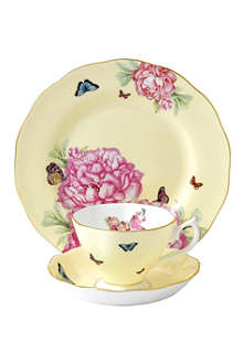 ROYAL ALBERT Miranda Kerr Joy three-piece teacup, saucer and plate set