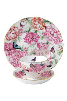 ROYAL ALBERT Miranda Kerr Gratitude three-piece teacup, saucer and plate set