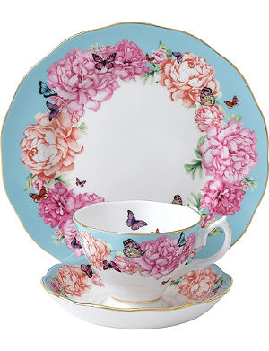ROYAL ALBERT Miranda Kerr Devotion three-piece teacup, saucer and plate set
