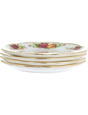 ROYAL ALBERT Old Country Roses set of four coasters 10cm