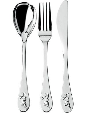 WEDGWOOD Bunnykins silver-plated cutlery set