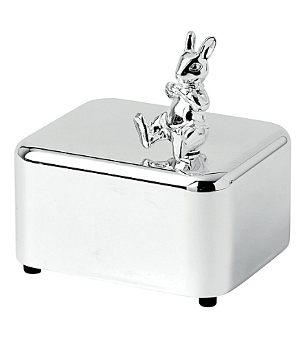 ROYAL DOULTON Bunnykins silver-plated music box