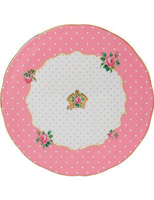 ROYAL ALBERT Cheeky Pink cake plate