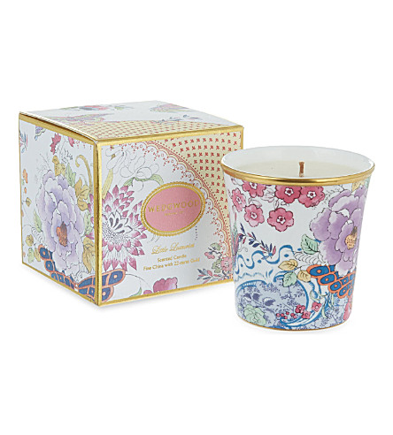 WEDGWOOD Gardenia & peony candle with 22-karat holder
